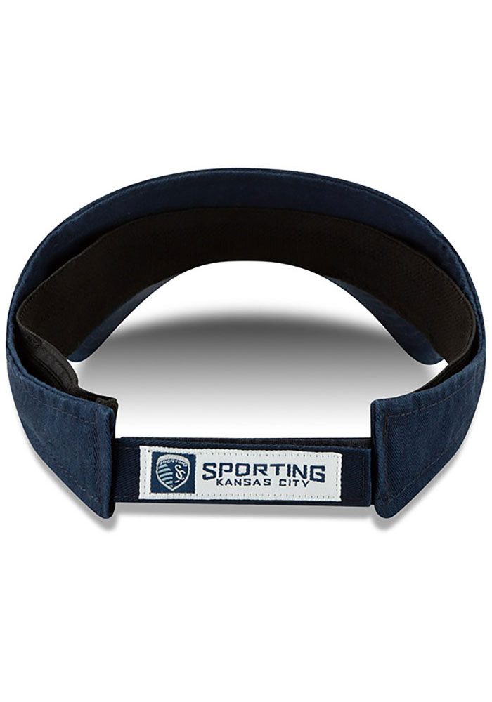 New Era Sporting Kansas City Mens Navy Blue Dugout Redux 2 Adjustable Visor - Image 5