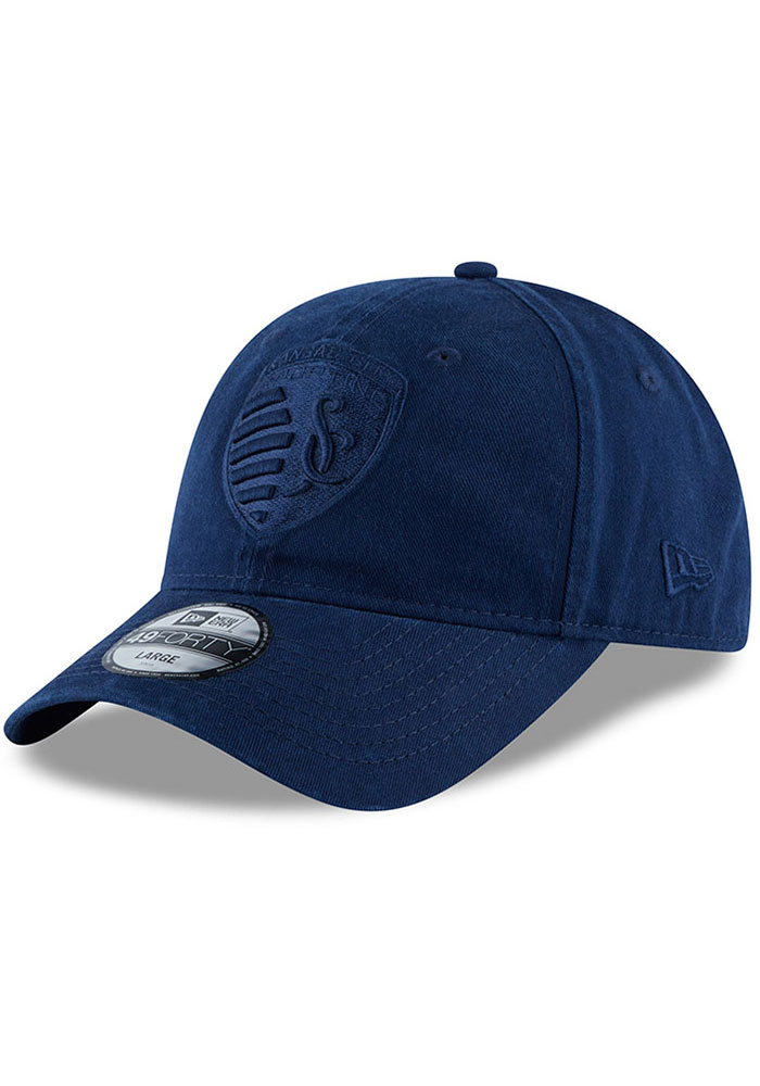 New Era Sporting Kansas City Mens Navy Blue NE Core Fit Tonal 49FORTY Fitted Hat - Image 1