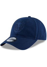 Sporting Kansas City New Era Navy Blue NE Core Fit Tonal 49FORTY Fitted Hat