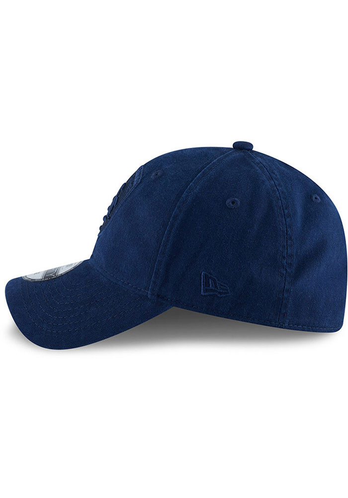 New Era Sporting Kansas City Mens Navy Blue NE Core Fit Tonal 49FORTY Fitted Hat - Image 4