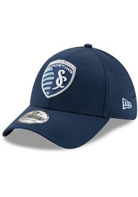 New Era Sporting Kansas City Navy Blue Perf Play 39THIRTY Flex Hat
