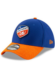 New Era FC Cincinnati Blue Popped Shadow 2 39THIRTY Flex Hat
