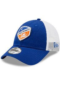 New Era FC Cincinnati Team Truckered 9FORTY Adjustable Hat - Blue