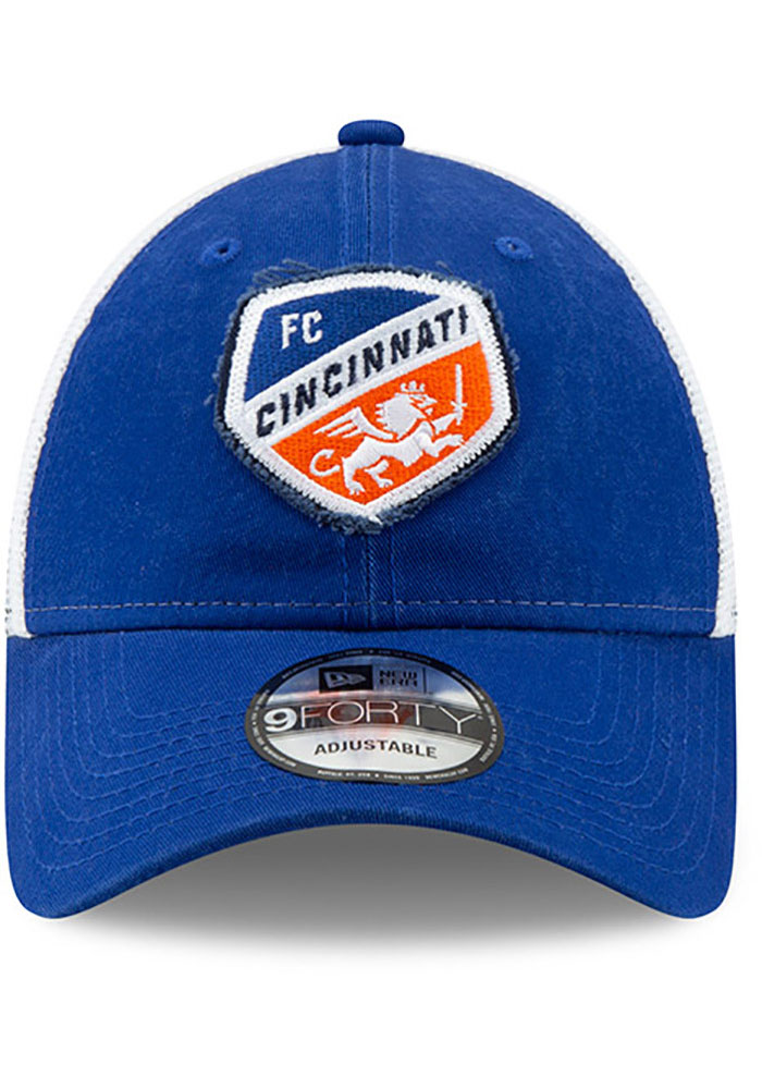 New Era FC Cincinnati Team Truckered 9FORTY Adjustable Hat - Blue - Image 3