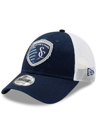 New Era Sporting Kansas City Team Truckered 9FORTY Adjustable Hat - Navy Blue