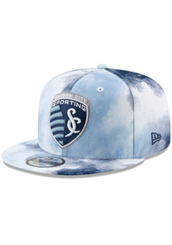 New Era Sporting Kansas City Navy Blue Color Disturbance 9FIFTY Snapback Hat