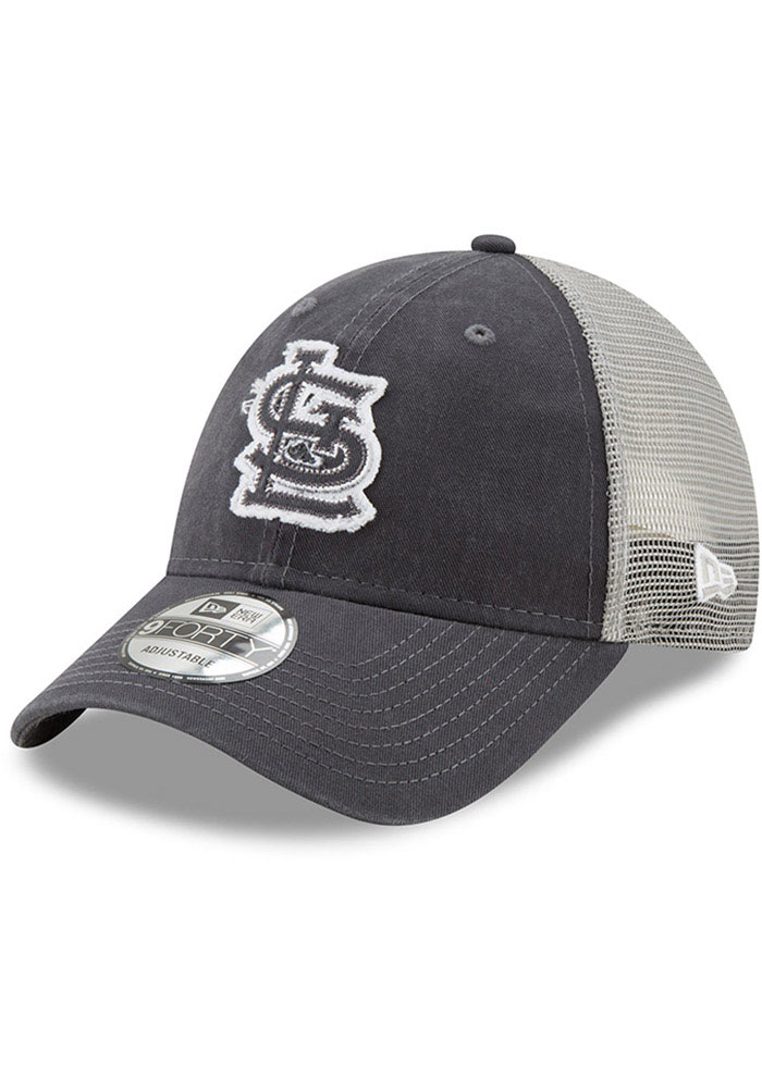 New Era St Louis Cardinals Team Truckered 9FORTY Adjustable Hat - Grey - Image 1