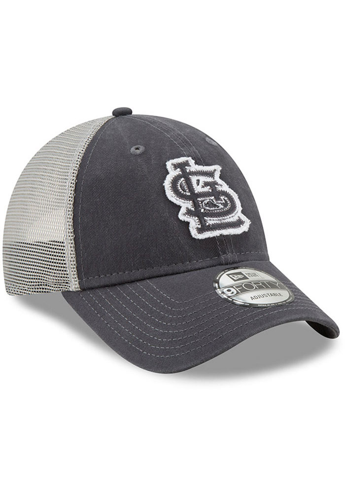 New Era St Louis Cardinals Team Truckered 9FORTY Adjustable Hat - Grey - Image 2