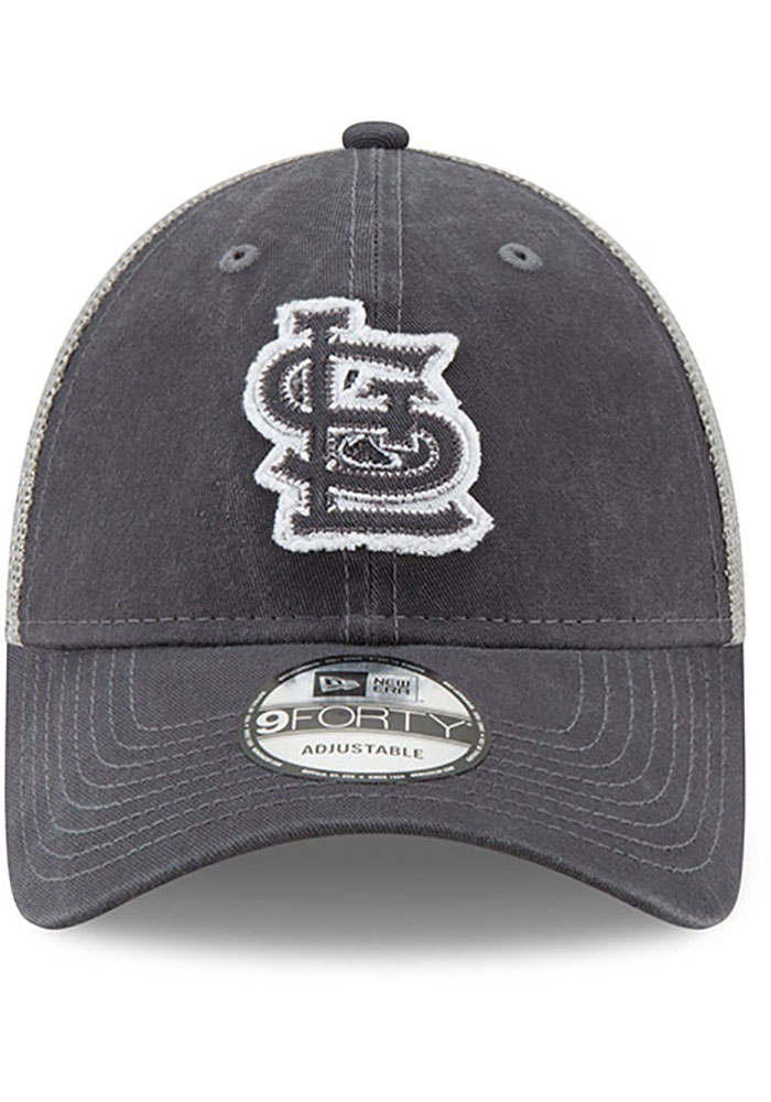 New Era St Louis Cardinals Team Truckered 9FORTY Adjustable Hat - Grey - Image 3
