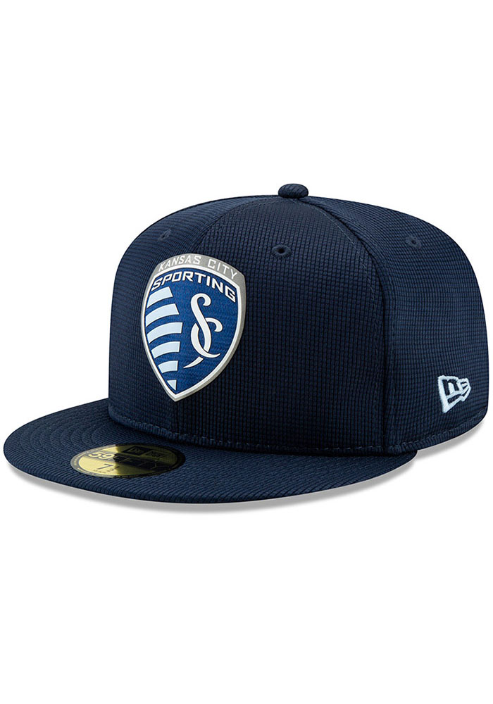 New Era Sporting Kansas City Mens Navy Blue 2019 Official 59FIFTY Fitted Hat - Image 1