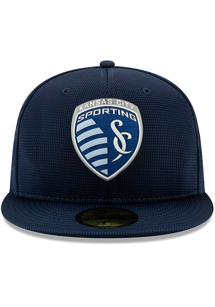 New Era Sporting Kansas City Mens Navy Blue 2019 Official 59FIFTY Fitted Hat - Image 3