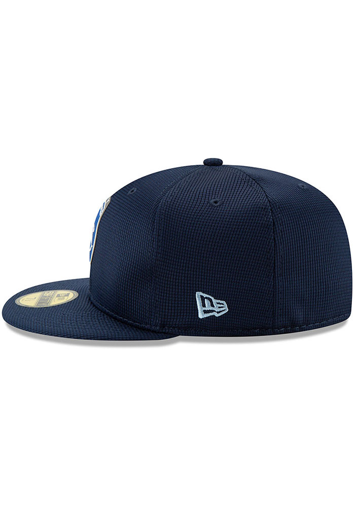 New Era Sporting Kansas City Mens Navy Blue 2019 Official 59FIFTY Fitted Hat - Image 4