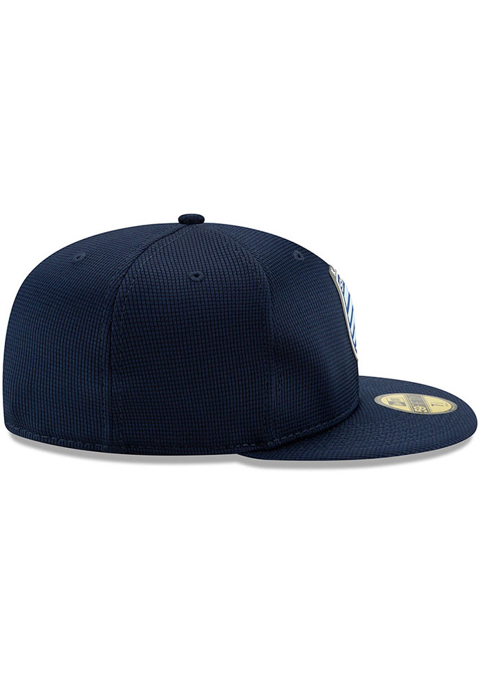 New Era Sporting Kansas City Mens Navy Blue 2019 Official 59FIFTY Fitted Hat - Image 6