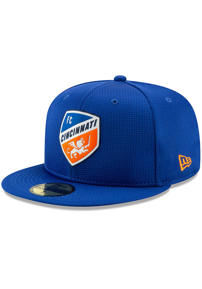 New Era FC Cincinnati Mens Blue 2019 Official 59FIFTY Fitted Hat - Image 1