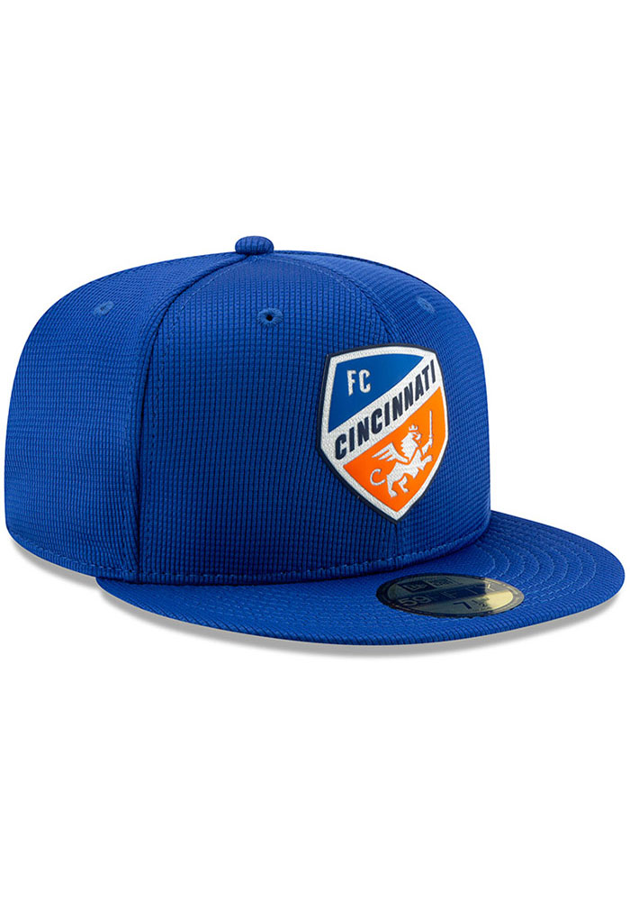 New Era FC Cincinnati Mens Blue 2019 Official 59FIFTY Fitted Hat - Image 2