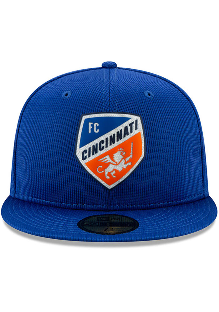 New Era FC Cincinnati Mens Blue 2019 Official 59FIFTY Fitted Hat - Image 3