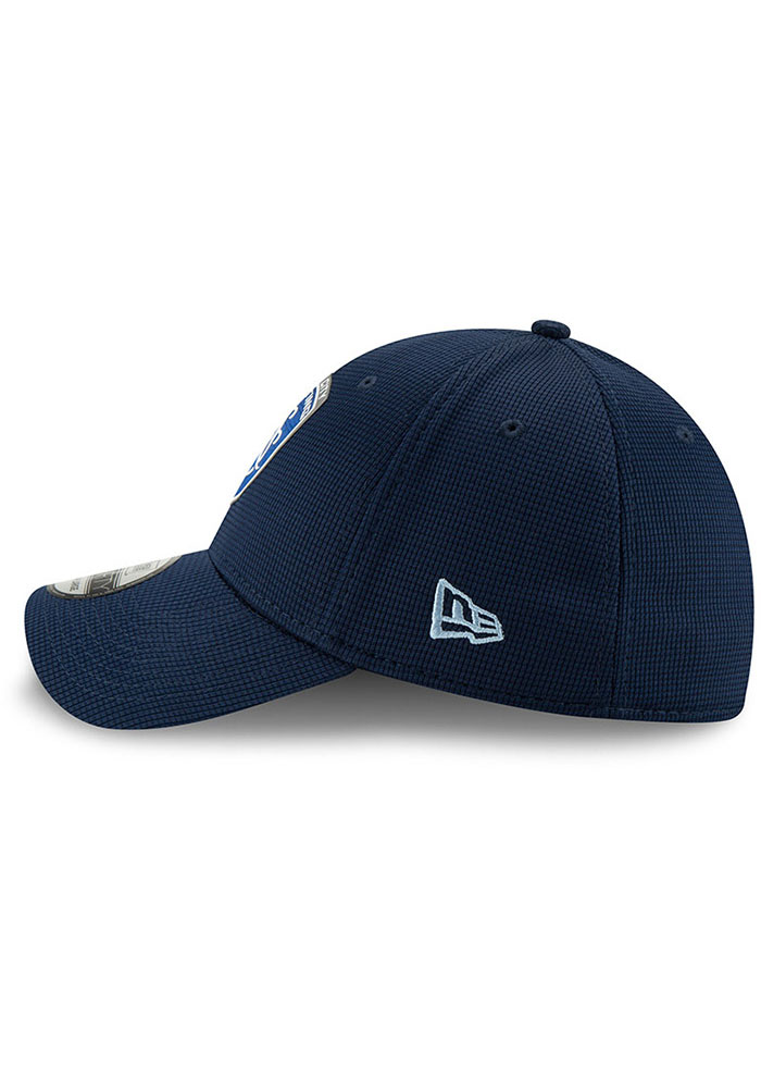 New Era Sporting Kansas City Mens Navy Blue 2019 Official 39THIRTY Flex Hat - Image 2