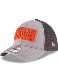 New Era Cleveland Browns Grey Grayed Out Neo 2 39THIRTY Flex Hat
