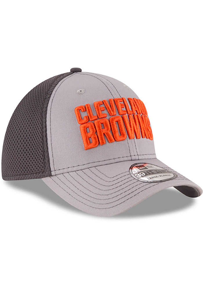 New Era Cleveland Browns Mens Grey Grayed Out Neo 2 39THIRTY Flex Hat - Image 2