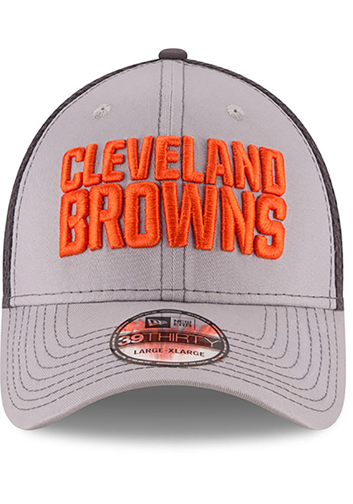 New Era Cleveland Browns Mens Grey Grayed Out Neo 2 39THIRTY Flex Hat - Image 3