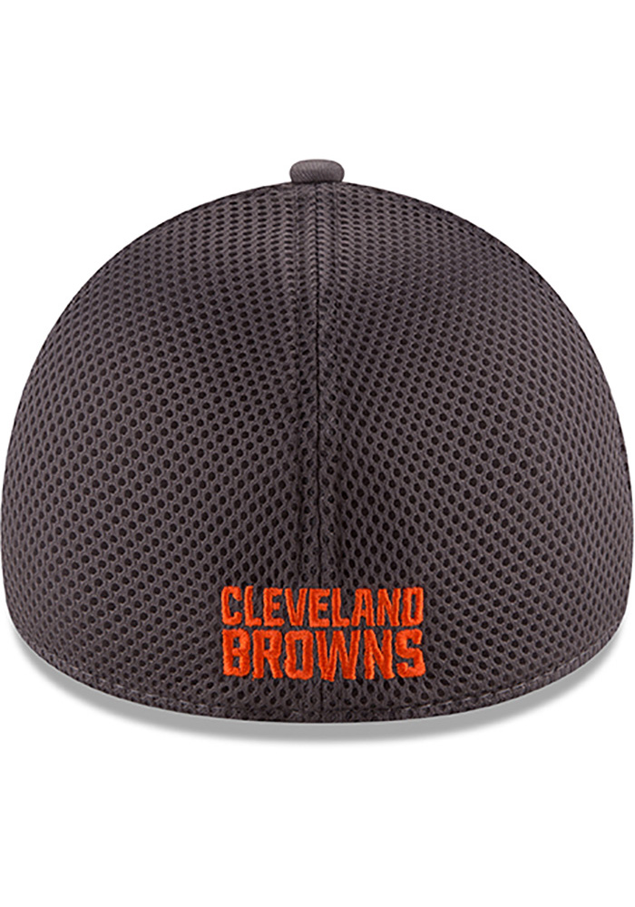 New Era Cleveland Browns Mens Grey Grayed Out Neo 2 39THIRTY Flex Hat - Image 5