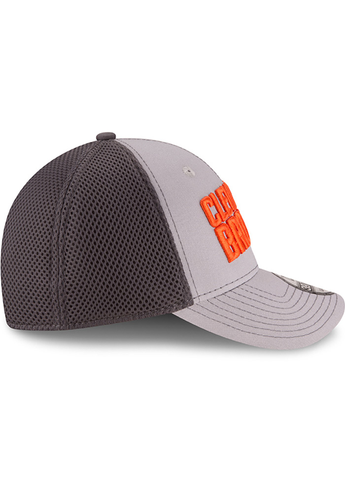 New Era Cleveland Browns Mens Grey Grayed Out Neo 2 39THIRTY Flex Hat - Image 6