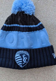 New Era Sporting Kansas City Navy Blue Tonal Bossed Cuff Knit Knit Hat