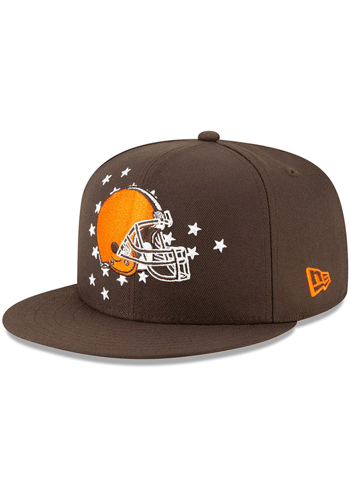 New Era Cleveland Browns Brown 2019 Draft 9FIFTY Mens Snapback Hat - Image 1