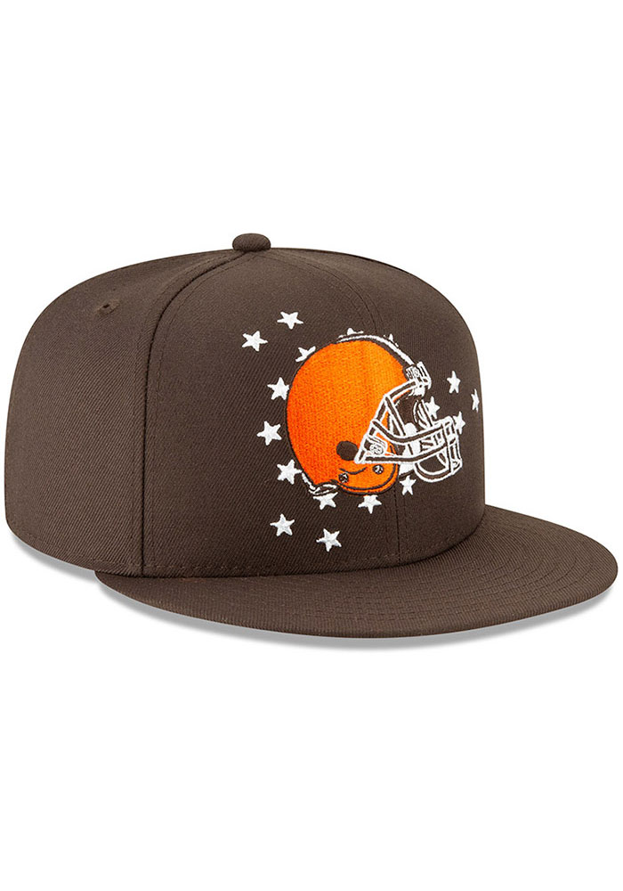 New Era Cleveland Browns Brown 2019 Draft 9FIFTY Mens Snapback Hat - Image 2