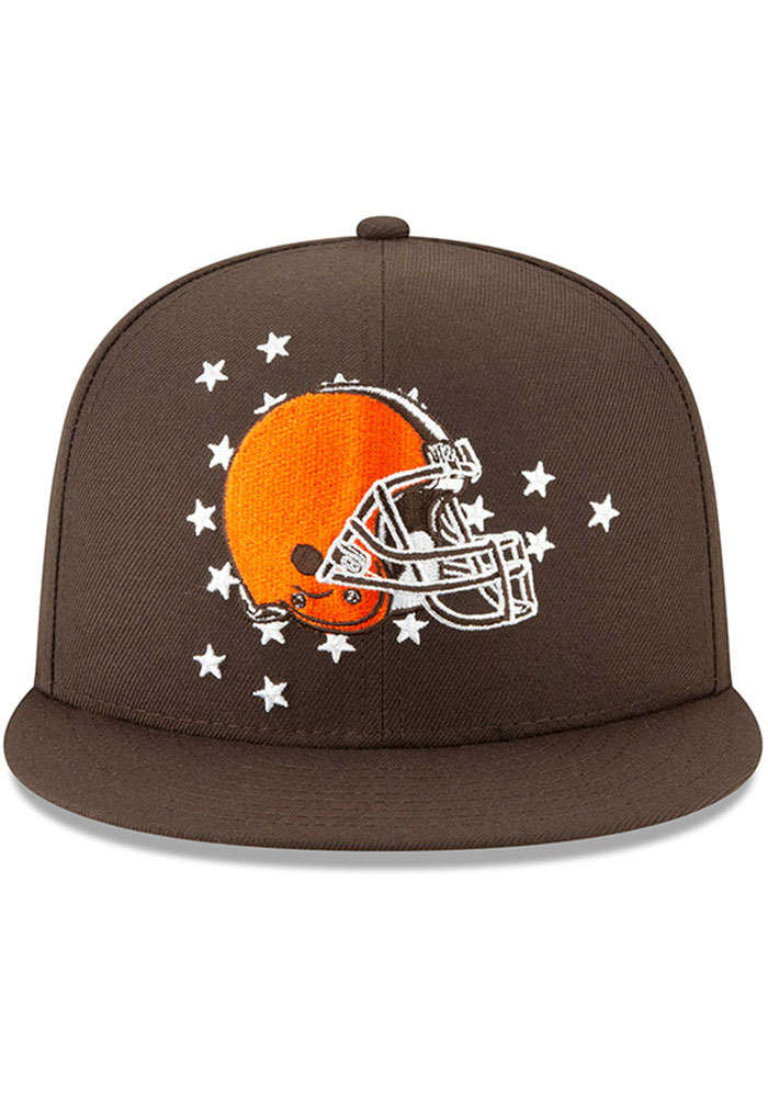 New Era Cleveland Browns Brown 2019 Draft 9FIFTY Mens Snapback Hat - Image 3