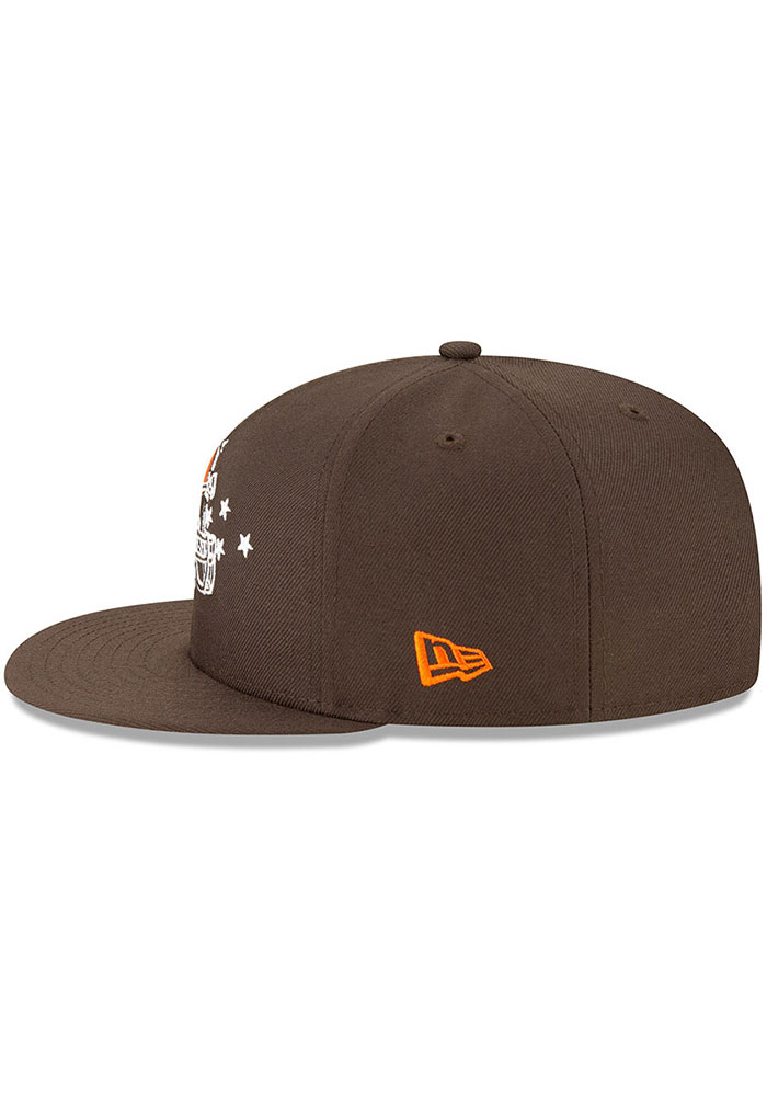 New Era Cleveland Browns Brown 2019 Draft 9FIFTY Mens Snapback Hat - Image 4