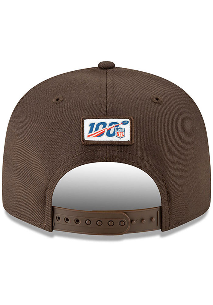 New Era Cleveland Browns Brown 2019 Draft 9FIFTY Mens Snapback Hat - Image 5