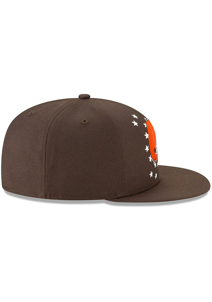 New Era Cleveland Browns Brown 2019 Draft 9FIFTY Mens Snapback Hat - Image 6