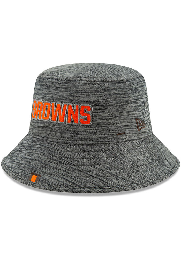 New Era Cleveland Browns Grey 2019 Training Mens Bucket Hat - Image 1