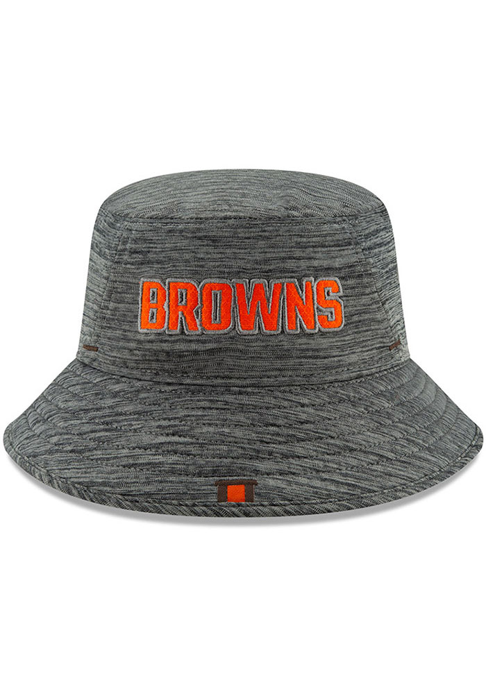 New Era Cleveland Browns Grey 2019 Training Mens Bucket Hat - Image 2