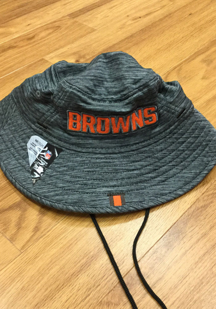 New Era Cleveland Browns Grey 2019 Training Mens Bucket Hat - Image 4