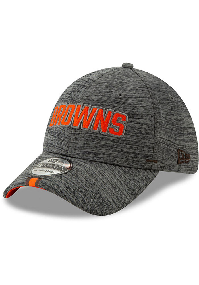 New Era Cleveland Browns Mens Grey 2019 Training 39THIRTY Flex Hat - Image 1