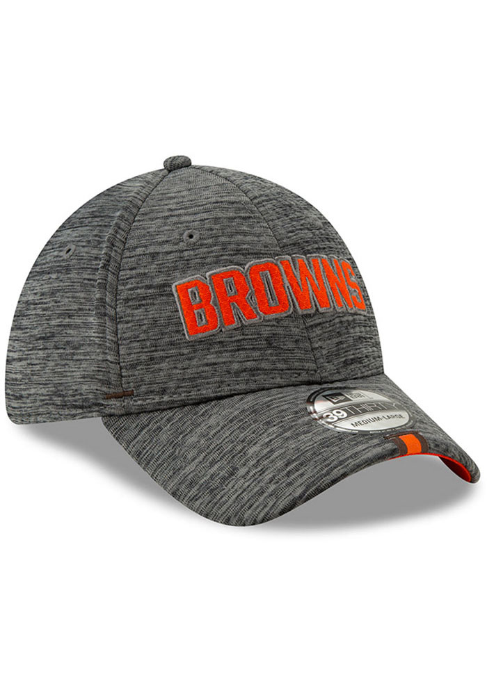New Era Cleveland Browns Mens Grey 2019 Training 39THIRTY Flex Hat - Image 2