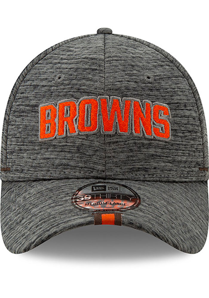 New Era Cleveland Browns Mens Grey 2019 Training 39THIRTY Flex Hat - Image 3
