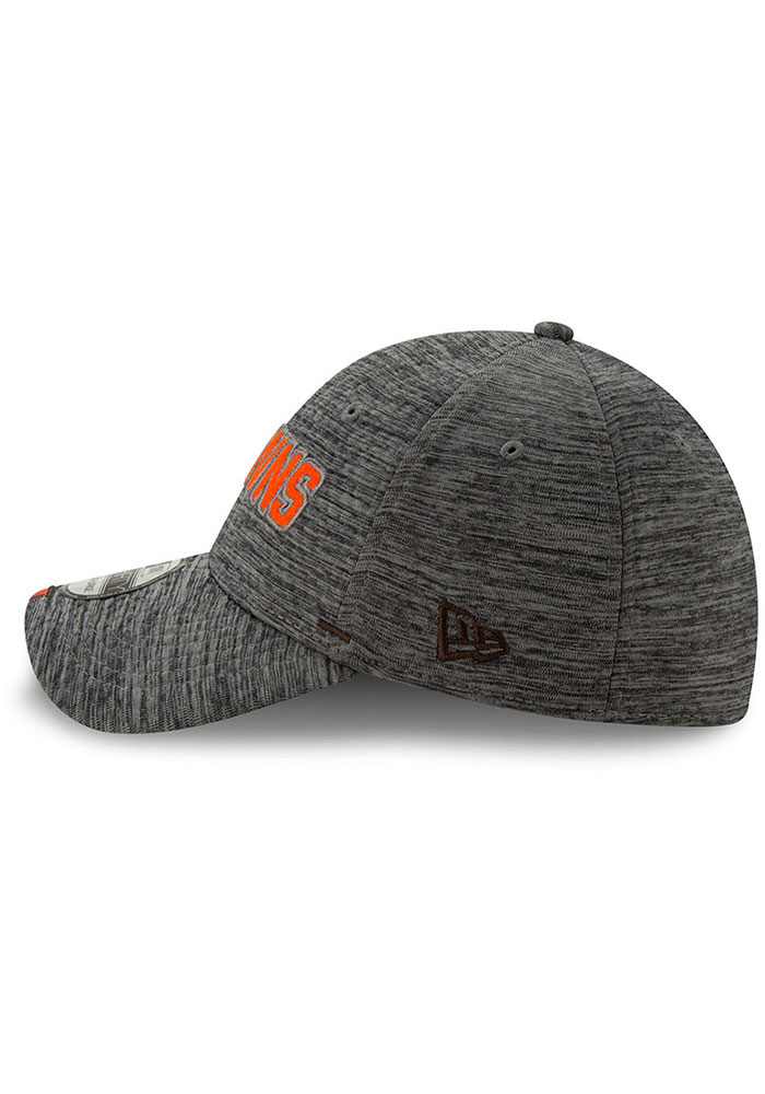 New Era Cleveland Browns Mens Grey 2019 Training 39THIRTY Flex Hat - Image 4
