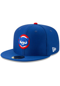 Chicago Cubs New Era Blue Batting Practice 2019 59FIFTY Fitted Hat