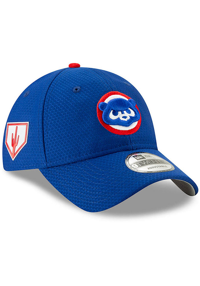 adf372eceb5 New Era Chicago Cubs Blue Spring Training BP 2019 9TWENTY Adjustable Hat