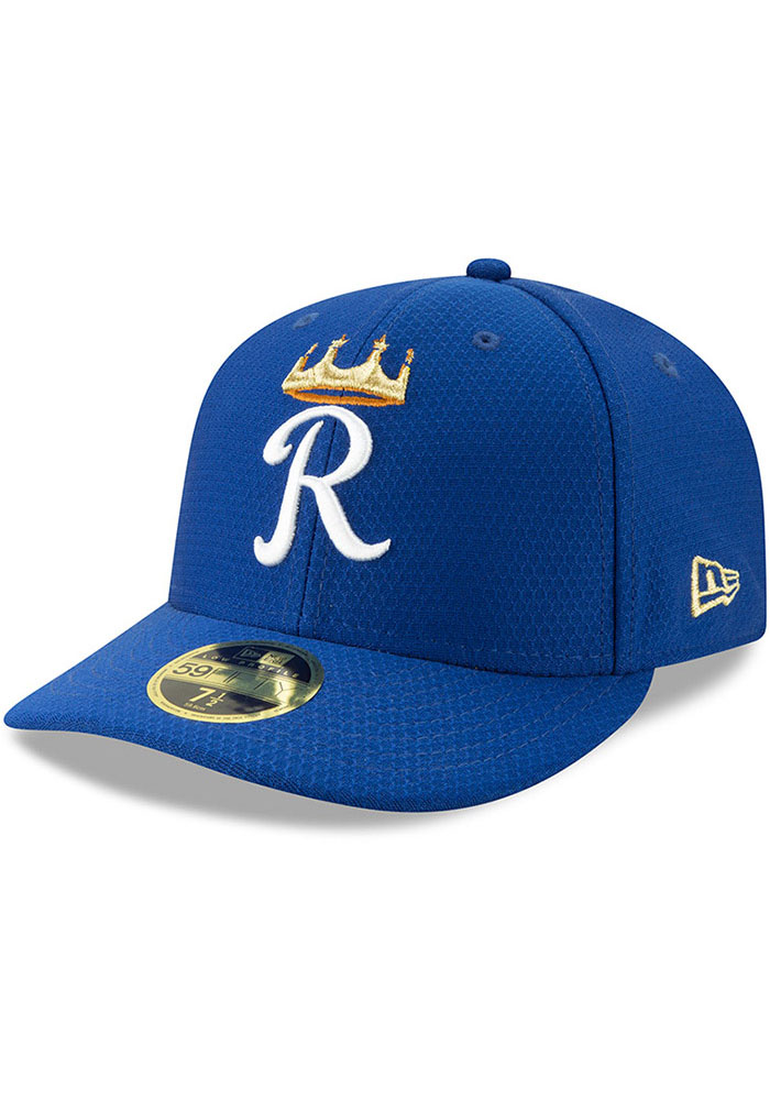 New Era Kansas City Royals Mens Blue Batting Practice 2019 LP 59FIFTY Fitted Hat - Image 1