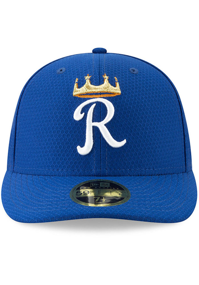 New Era Kansas City Royals Mens Blue Batting Practice 2019 LP 59FIFTY Fitted Hat - Image 3