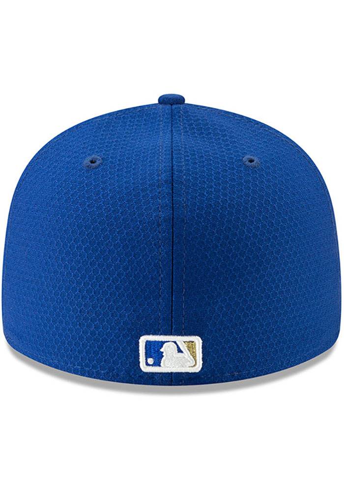 New Era Kansas City Royals Mens Blue Batting Practice 2019 LP 59FIFTY Fitted Hat - Image 5