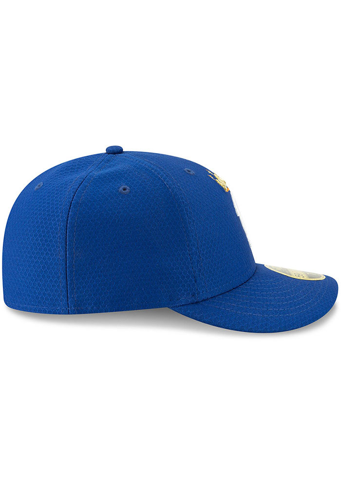 New Era Kansas City Royals Mens Blue Batting Practice 2019 LP 59FIFTY Fitted Hat - Image 6