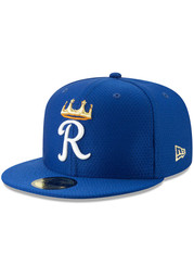 Kansas City Royals New Era Batting Practice 2019 59FIFTY Fitted Hat - Blue