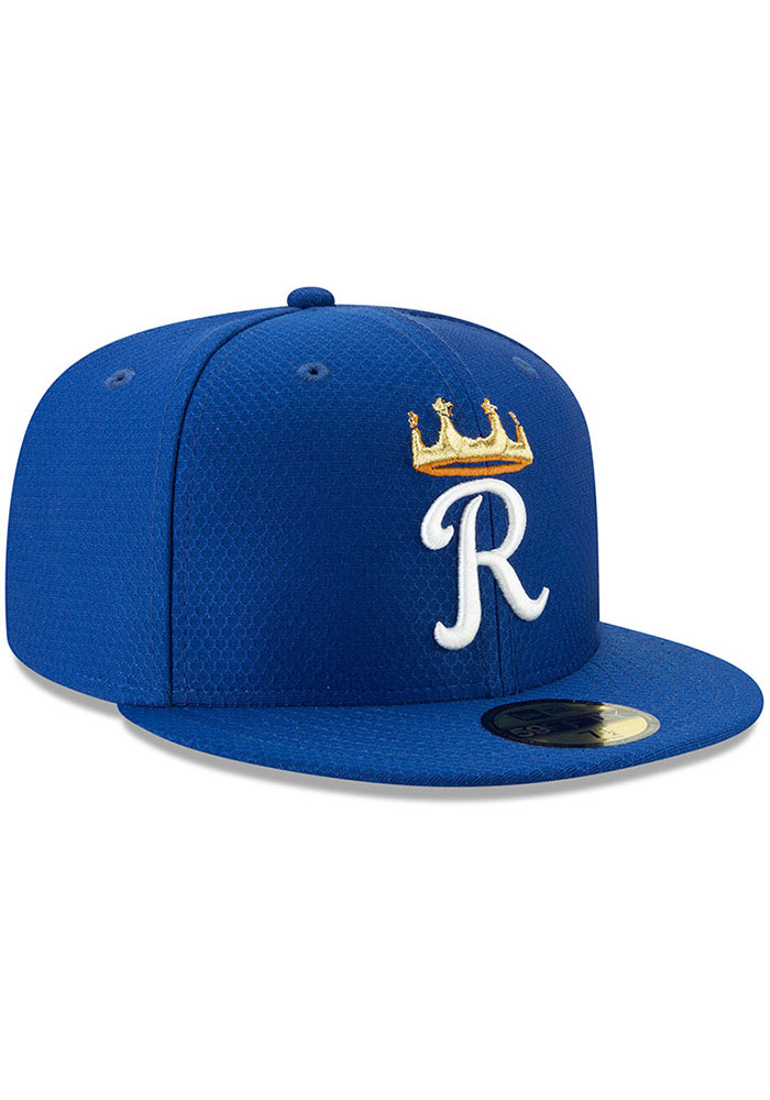 New Era Kansas City Royals Mens Blue Batting Practice 2019 59FIFTY Fitted Hat - Image 2
