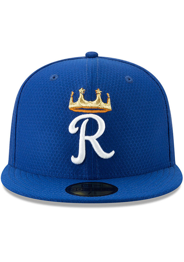 New Era Kansas City Royals Mens Blue Batting Practice 2019 59FIFTY Fitted Hat - Image 3