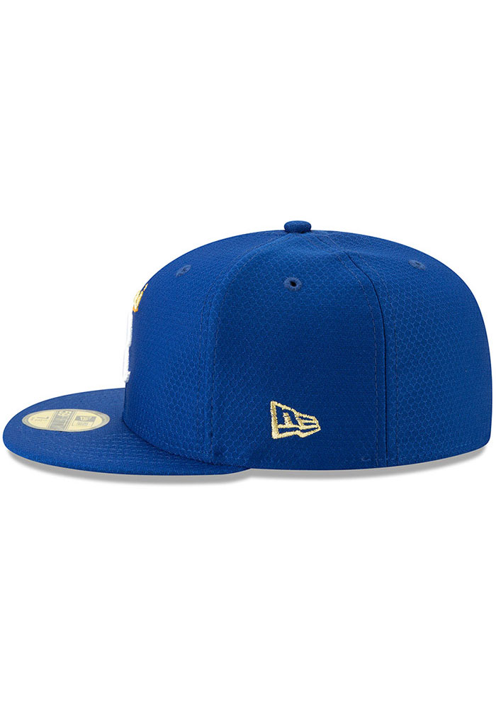 New Era Kansas City Royals Mens Blue Batting Practice 2019 59FIFTY Fitted Hat - Image 4